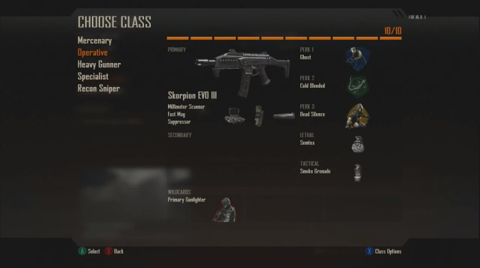 The Pick 10 System lets you make a class that suits you.